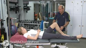 Carl Petersen, physiotherapist, discusses calf strain in tennis.