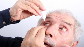 eye drops older man large