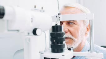 eye exam older man