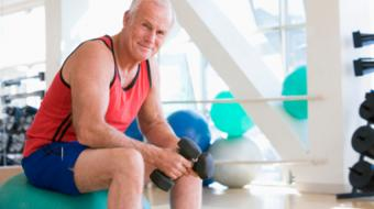 fit older man exercising