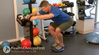 gluteal squat assisted exercise