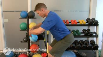 glutial squat standing exercise