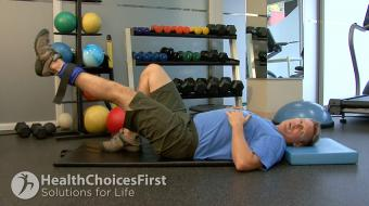 hip flexor ankle weight exercise