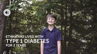 Ethan's story (the Bordage family from New Brunswick) : Dexcom G6 continuous glucose monitor (CGM)