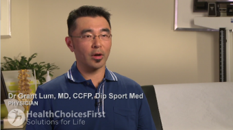 Dr. Grant Lum, MD, CCFP, Dip Sports Med, Sports Medicine Physician, discusses patellofemoral syndrome, diagnosis and common treatment options.
