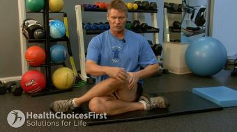 seated hip stretch exercise
