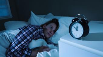 sleepless young woman