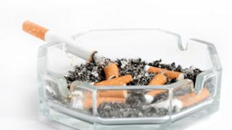 smoking cigarettes ashtray