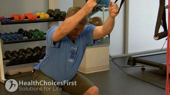 standing lats tubing exercise