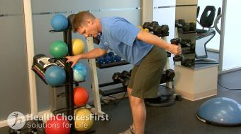 Jackson Sayers, B.Sc. (Kinesiology), discusses standing tricep exercises.