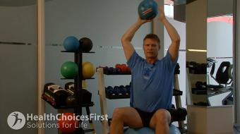 Jackson Sayers, B.Sc. (Kinesiology), discusses tricep exercises on the stability ball.