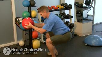 weight assisted squat exercise