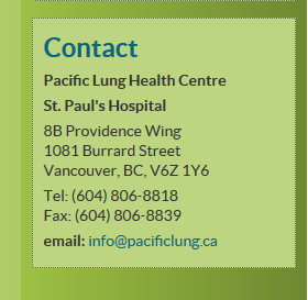 The Pacific Lung Health Centre (PLHC)