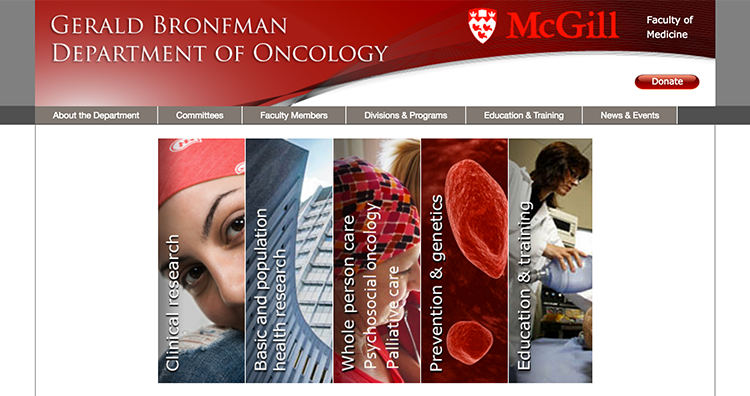 Gerald Bronfman Department of Oncology - McGill University